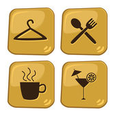 Icon cafe and shopping — Stock Vector
