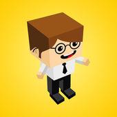 Isometric Businessman Character — Stockvektor