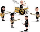 バンドの漫画 — ストックベクタ