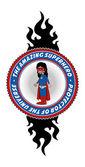 Super wojownik czerwona maska — Wektor stockowy