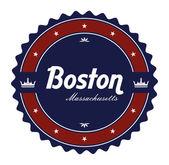 Label boston — Stock Vector