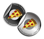 Pizza label — Stock Vector