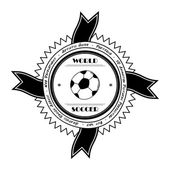 Soccer sticker label — Stock Vector
