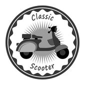 Old scooter label — Vetorial Stock