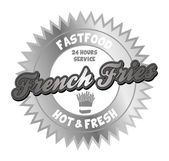French fries fast food — Stock Vector