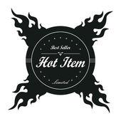 Hot item label — Stock Vector