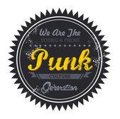 Punk music genre — Stock Vector