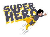 Super guy hero character — Stock Vector