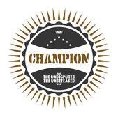 Champion badge — ストックベクタ