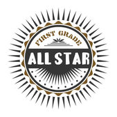 Label all star — Stock Vector