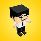 изометрические бизнесмен характер — Cтоковый вектор