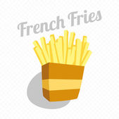 Retro Look French Fries — Stock Vector
