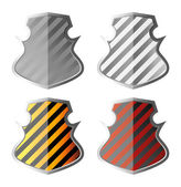 Striped shields — Stock Vector