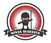 Retro ninja — Stock Vector