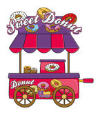 Donuts stand — Stockvector