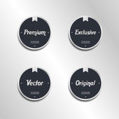 Quality retro label sticker set — Vecteur