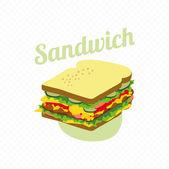 Retro Look Sandwich — Stock Vector