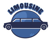 Limousine sign — Stock Vector