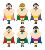 Fat superhero — Stock Vector