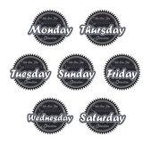 Calendar day badge — Stock Vector