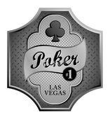 Club poker — Stock Vector