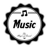 Music art label — Stock Vector