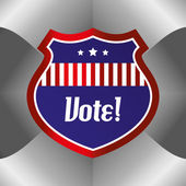 Vote label — Cтоковый вектор