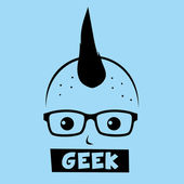 Geek nerd boy — Stock Vector