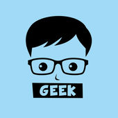 Geek nerd boy — Stock Vector