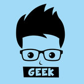 Geek nerd boy — Stockvektor