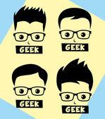 Geek and nerd man — Stock Vector