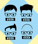 Geek and nerd man — Stock Vector