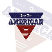 Emblema americano — Vector de stock