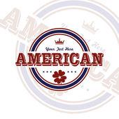Emblema americana — Vetor de Stock