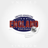 United kingdom label — Stock Vector
