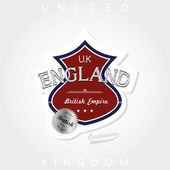 United kingdom label — Stock Vector