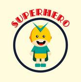 Little hero — Stock Vector