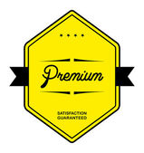Flat retro premium label — Stock Vector