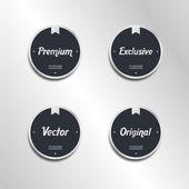 Quality retro label sticker set — Stock Vector