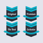 Retro vector label set — Stock Vector