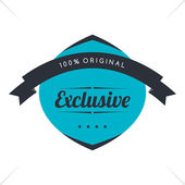 Exclusive label sticker — Stock Vector