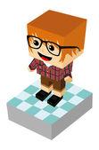 Man cartoon karakter — Stockvector