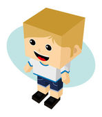 Man avatar cartoon character — Stock Vector