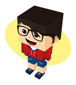 Cartoon character — Stock Vector