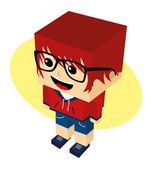 Cartoon character — Stockvector