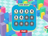Game screen shot — Stock Vector
