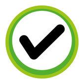 Confirm gui application icon button — Stock Vector