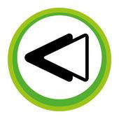 Previous gui application icon button — Stock vektor