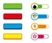 Game button template — Stockvektor