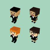 Video game character set — Stockvektor